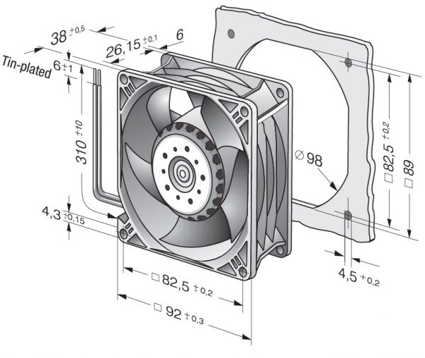 Вентилятор осевой DC,   3214 JH4