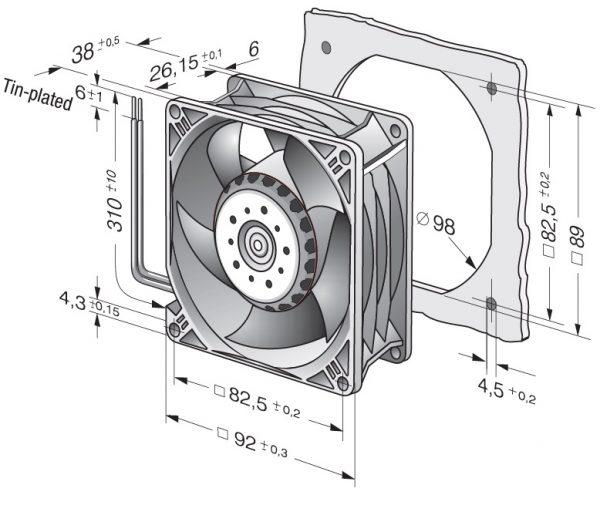 Вентилятор осевой DC,   3218 JN