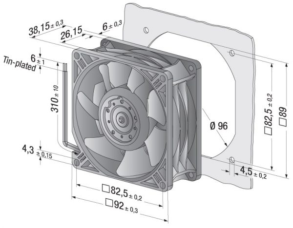Вентилятор осевой DC,   3258 J/2 H3P