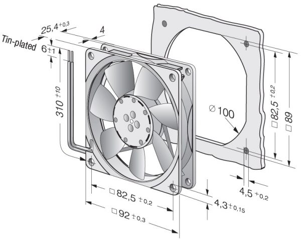 Вентилятор осевой DC,   3414 NL