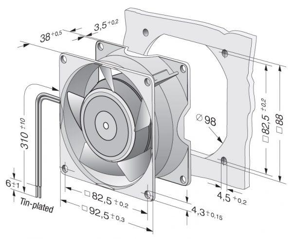 Вентилятор осевой AC, 3856