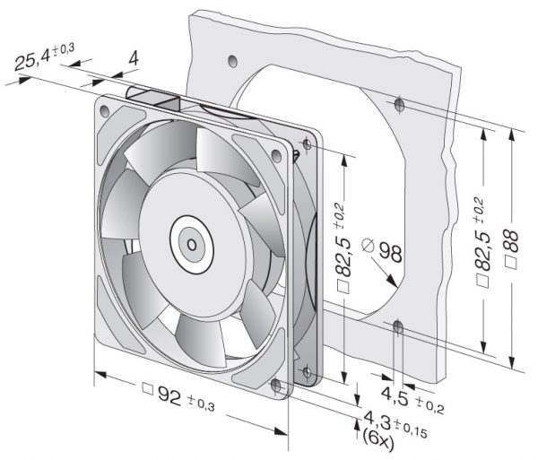 Вентилятор осевой AC, 3950 M
