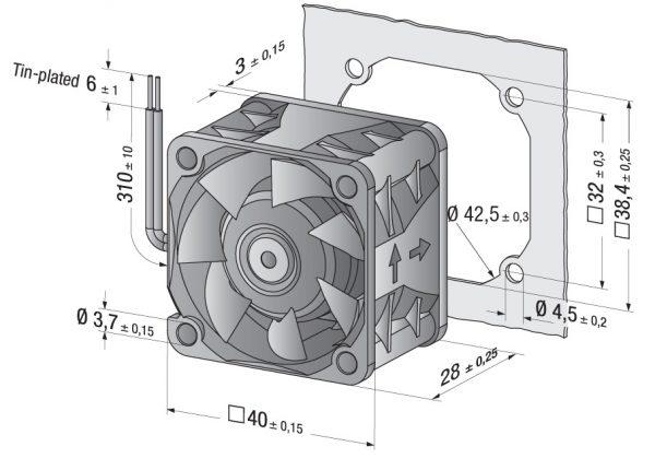 Вентилятор осевой DC,   424 JN