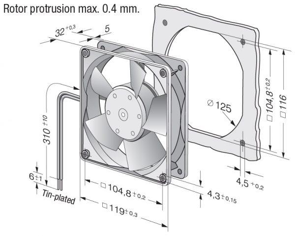 Вентилятор осевой DC,   4314-180