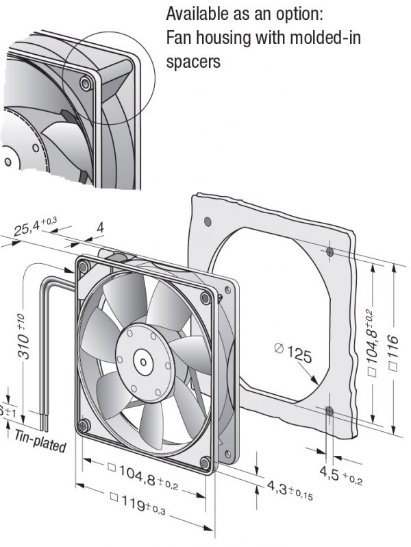 Вентилятор осевой DC,   4414 FG