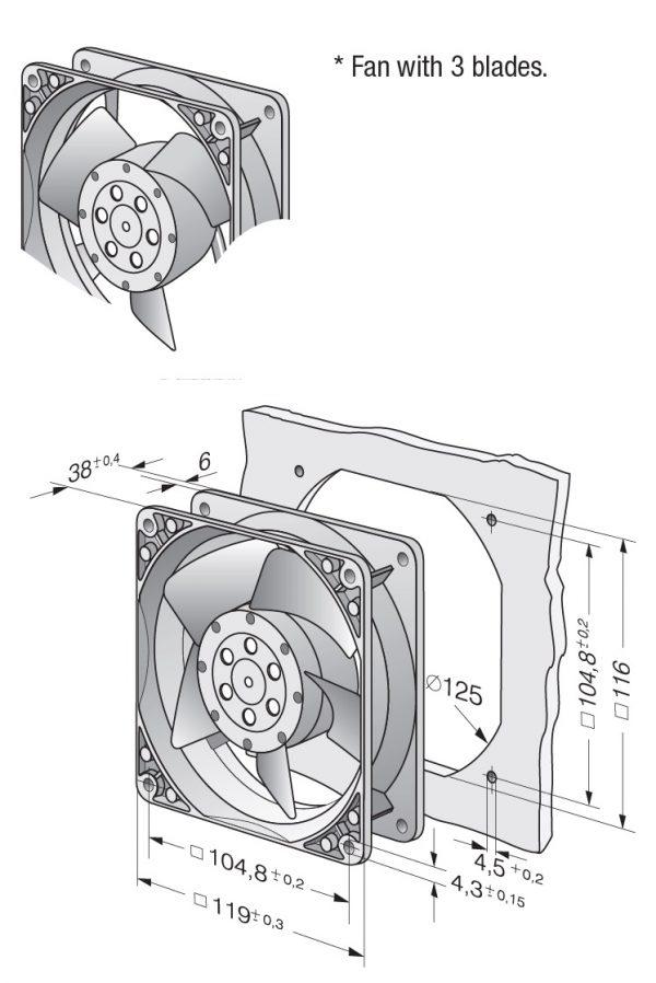 Вентилятор осевой AC, 4530 N