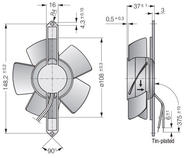 Вентилятор осевой AC, 4600 TZ