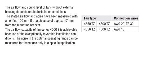 Вентилятор осевой AC, 4650 TZ