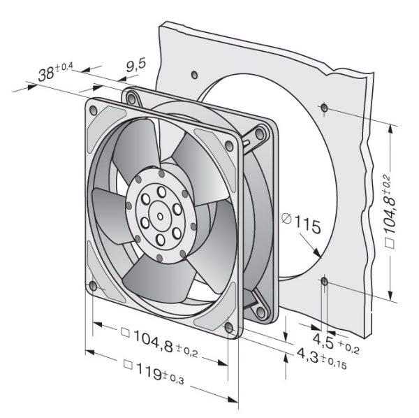 Вентилятор осевой AC, 4856 Z