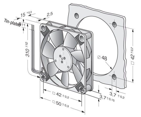Вентилятор осевой DC,   512 F-532