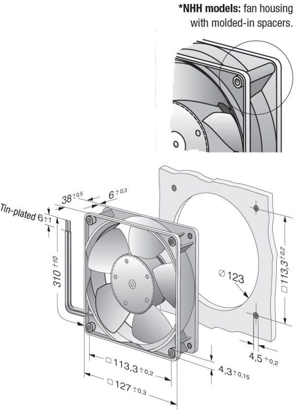 Вентилятор осевой DC,   5214 NHH