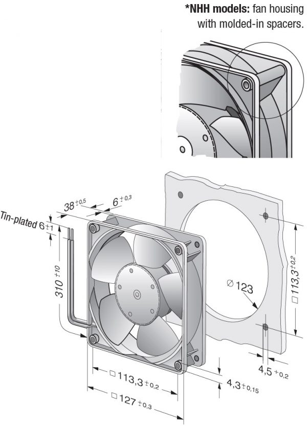 Вентилятор осевой DC,   5218 NM