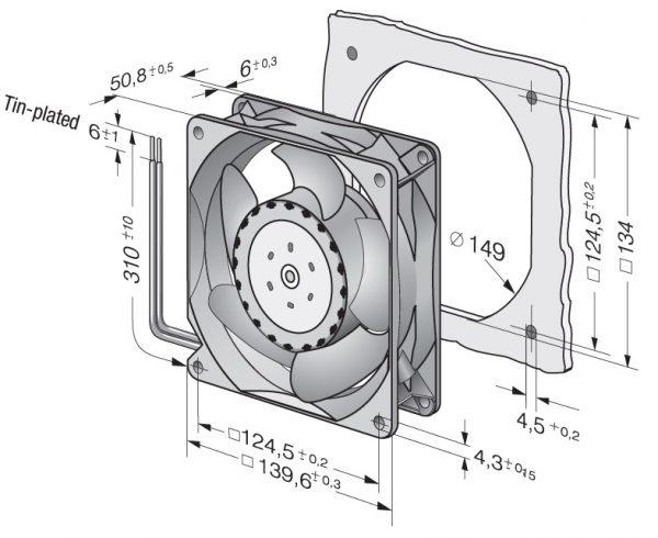 Вентилятор осевой DC,   5314/2 TDHP