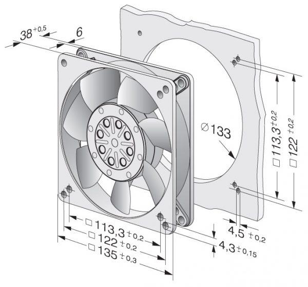 Вентилятор осевой AC, 5656 S