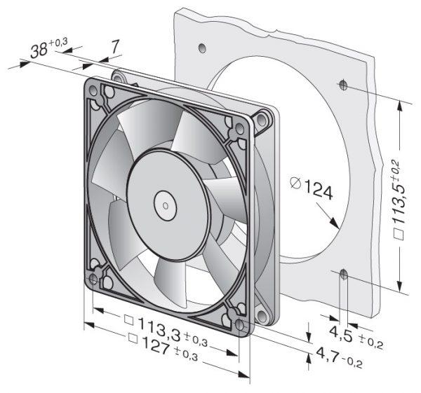 Вентилятор осевой AC, 5900
