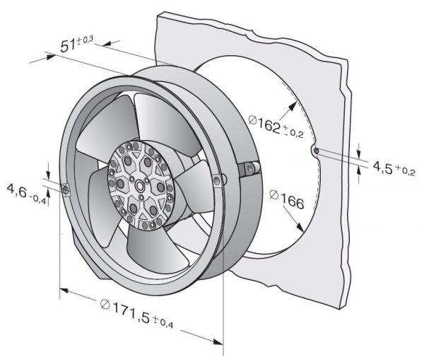 Вентилятор осевой AC, 6028 ES