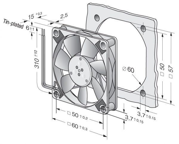 Вентилятор осевой DC,   612 FL