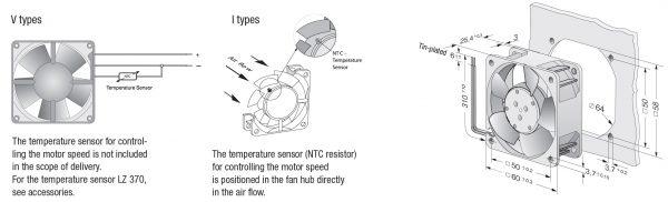 Вентилятор осевой DC,   612 NGNV