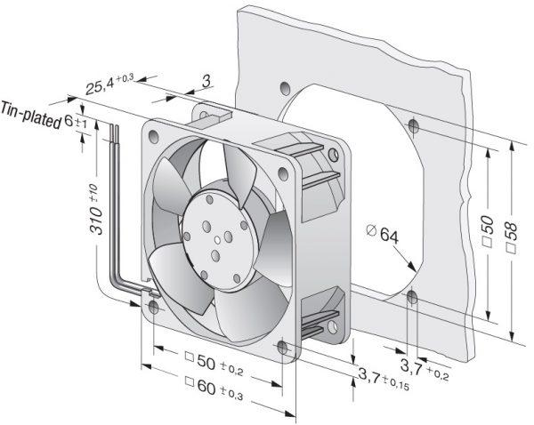Вентилятор осевой DC,   614 NHH-119