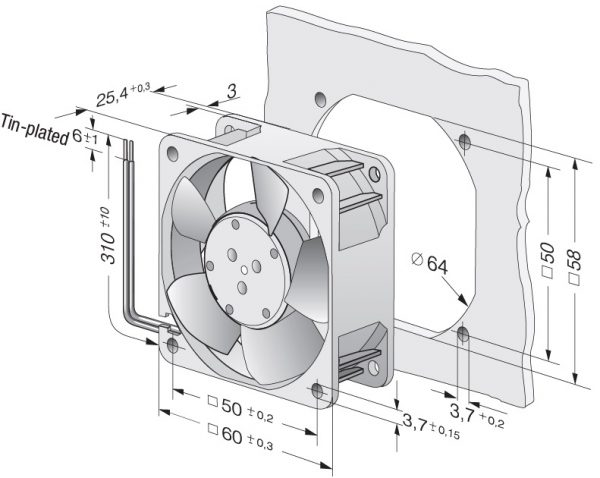 Вентилятор осевой DC,   614 NN