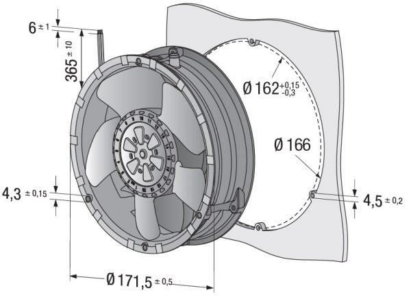 Вентилятор осевой DC,   6318 N/2 TDH3P