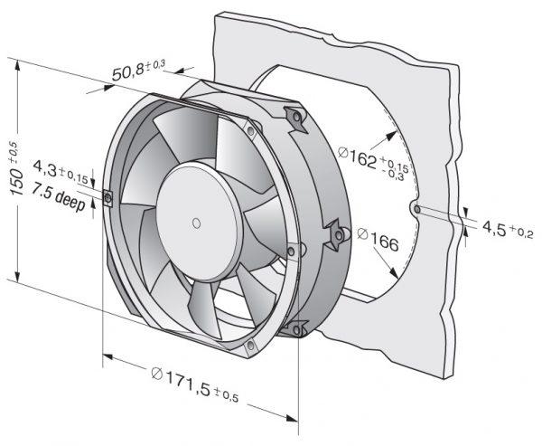 Вентилятор осевой DC,   6424 M