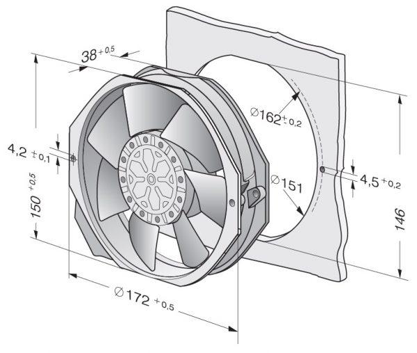 Вентилятор осевой AC, 7006 ES