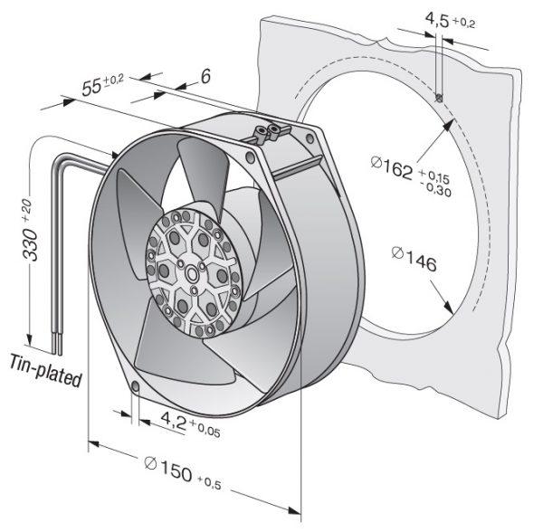 Вентилятор осевой AC, 7400 ES
