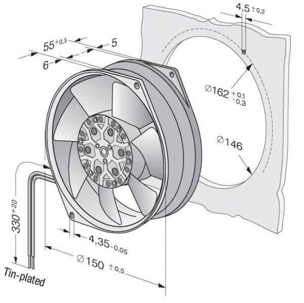 Вентилятор осевой AC, 7855 ES