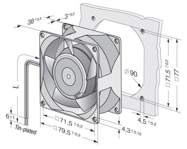 Вентилятор осевой AC, 8506 N