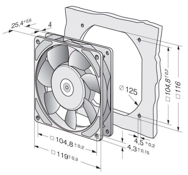Вентилятор осевой AC, 9956 L