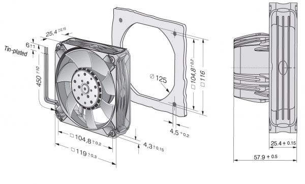 Вентилятор ACmaxx / EC, AC 4400 FNN
