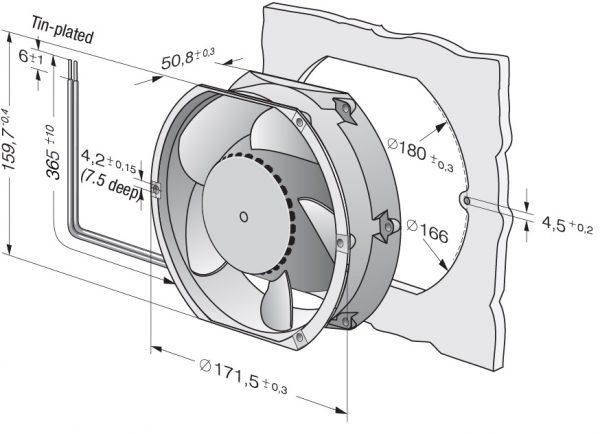 Вентилятор осевой DC,   DV 6424 TD