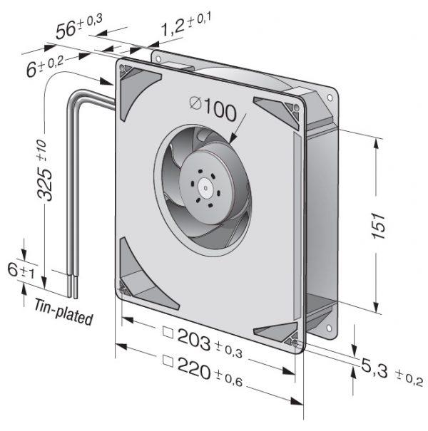 Вентилятор центробежный DC, RG 160-28/14 NTD