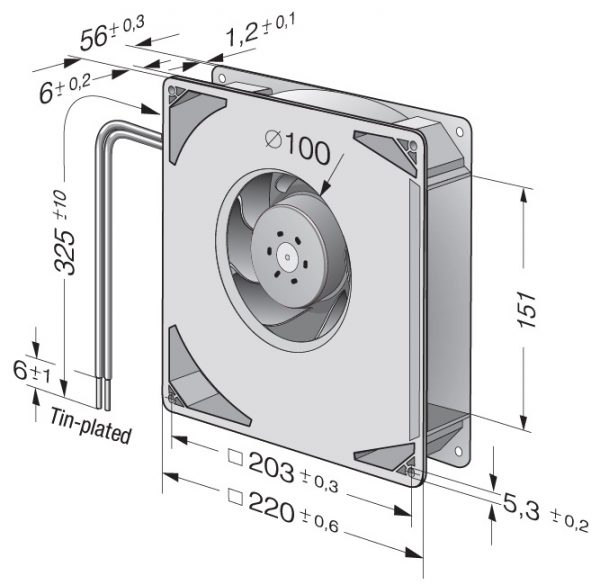 Вентилятор центробежный DC, RG 160-28/14 N
