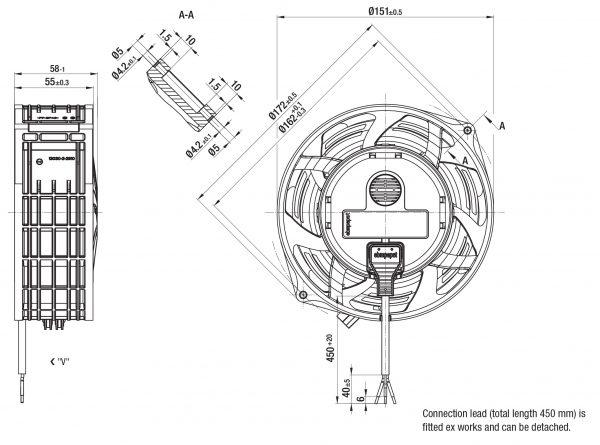 Вентилятор ACmaxx / EC, W1G 130 -AA25 -01